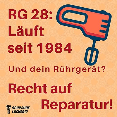 Bild: Recht auf Reparatur RG28